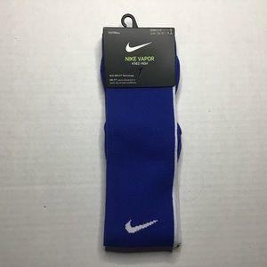 Nike Football Vapor Knee High Blue Socks